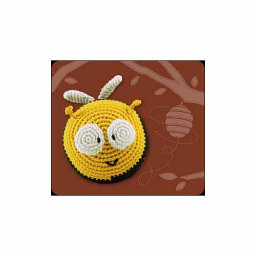 Crocheted Bee Roly Poly Rattle by Dandelion 21006 by Dandelion