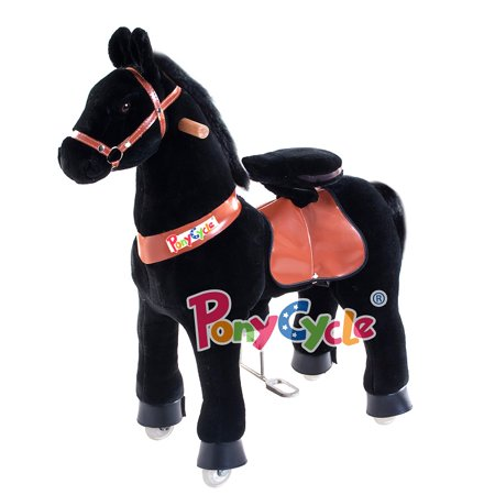 Ride On Horse Mechanical Horse Black Small for Age 3-5 … - PonyCycle n3183