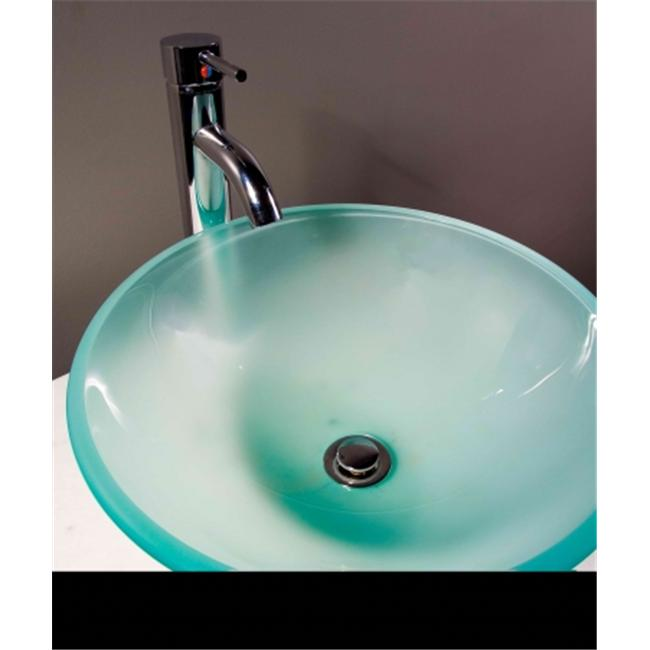 Cantrio Koncepts GS-102F Glass Round Vessel Sink - Frosted