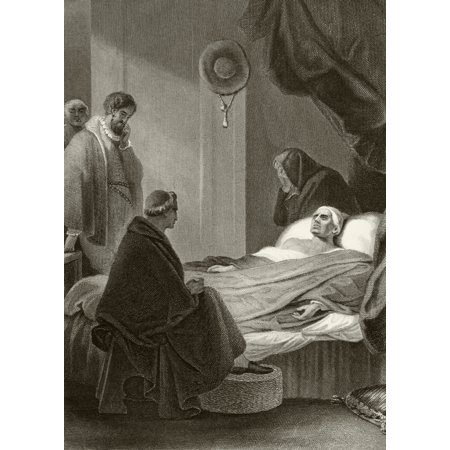 Death Of Thomas Cardinal Wolsey At Leicester Abbey November 29 1530 From The National And Domestic History Of England By William Aubrey Published London Circa 1890 Canvas Art   Ken Welsh  Design Pics