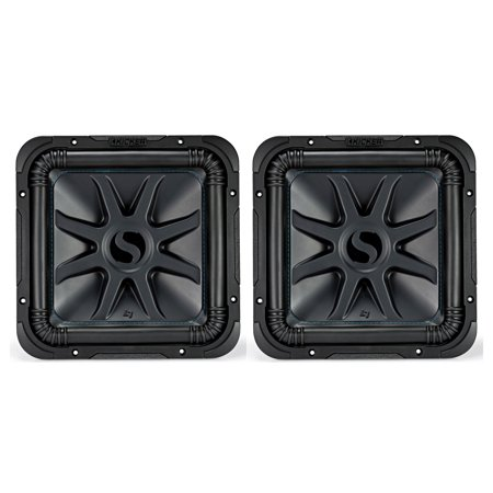 """Kicker Solo-Baric 1500W 12"""" 2 Ohm DVC Sealed or Ported Square Subwoofer (2 Pack)"""