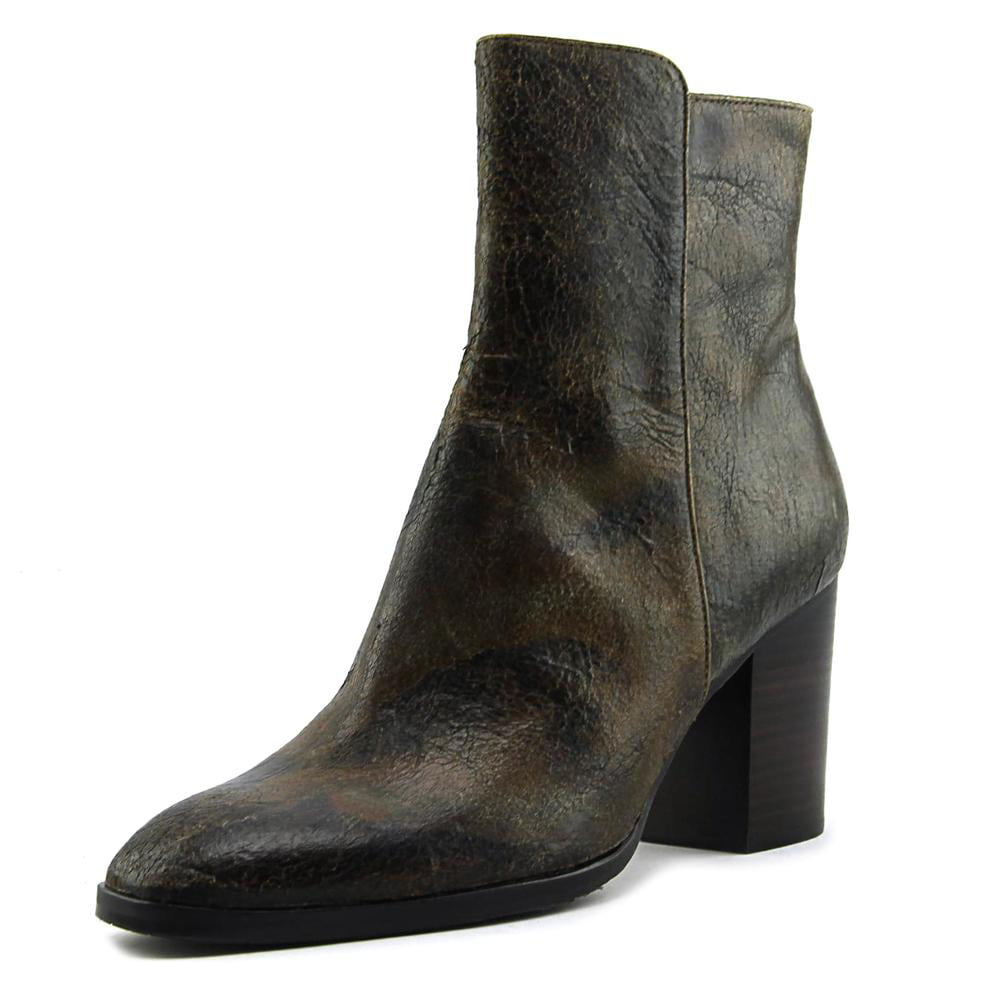 Donald J Pliner Sonoma-58 Women Round Toe Leather Brown Ankle Boot by Donald J Pliner