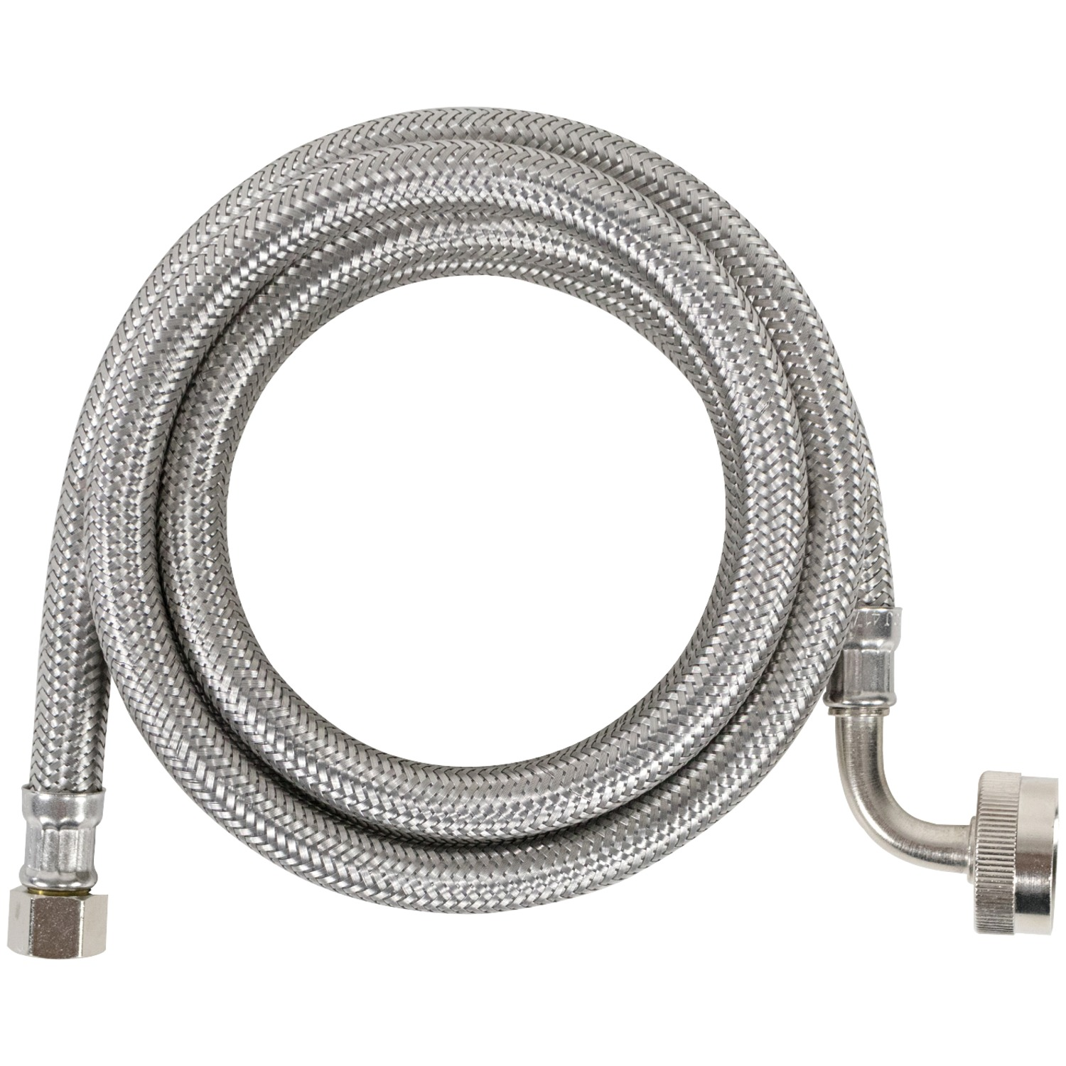 Certified Appliance DW60SSL Braided Stainless Steel Dishwasher Connector with Whirlpool Elbow (5')