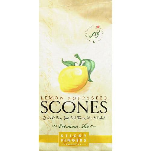 Sticky Fingers Bakeries Lemon Poppyseed Premium Scones Mix, 15 oz, (Pack of 6) by Generic