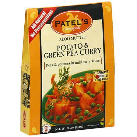 Patel Potato & Green Pea Curry, 9.9 oz (Pack of
