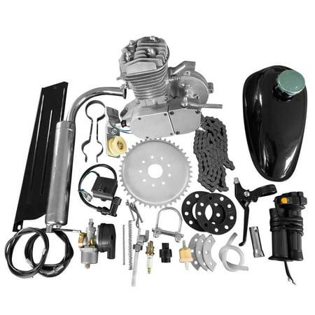 Zimtown 50cc Bike 2 Stroke Gas Engine Motor Kit DIY Motorized Bicycle Silver