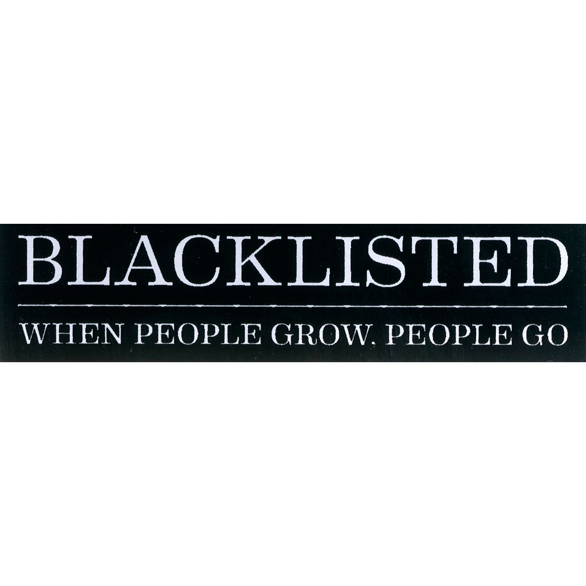 Blacklisted sticker