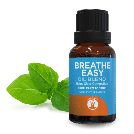 Gurunanda Breathe Easy Essential Oil Blend, 0.5 Oz