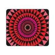 OTM Prints Black Mouse Pad, Sun Print Lava