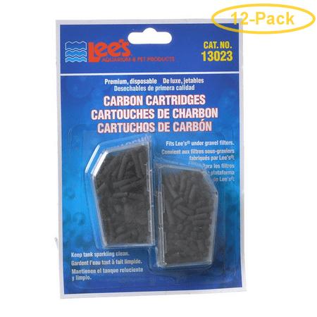 Lees Carbon Cartridges (Lees Disposable Premium Carbon Cartridges 2 Pack - Pack of 12)