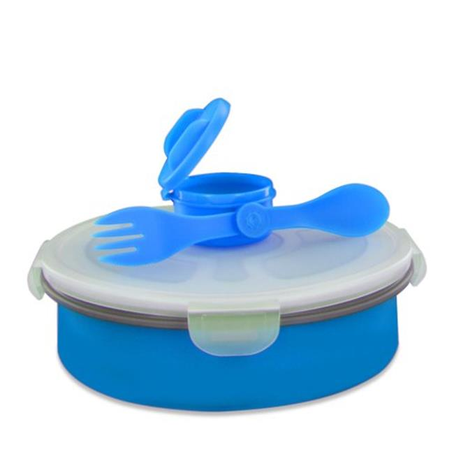 Smart Planet EC34DSBB 65 oz.  Delux Collapsible Salad Bowl - Blue
