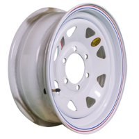"ArcWheel White Spoke Steel Trailer Wheel - 16"" x 6"" Rim - 6 on 5.5"