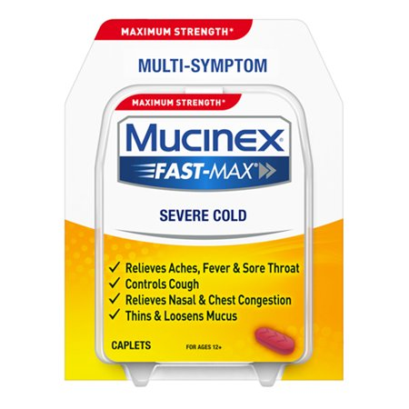 Mucinex Fast-Max Severe Cold Caplets, - Cold Severe Caplets