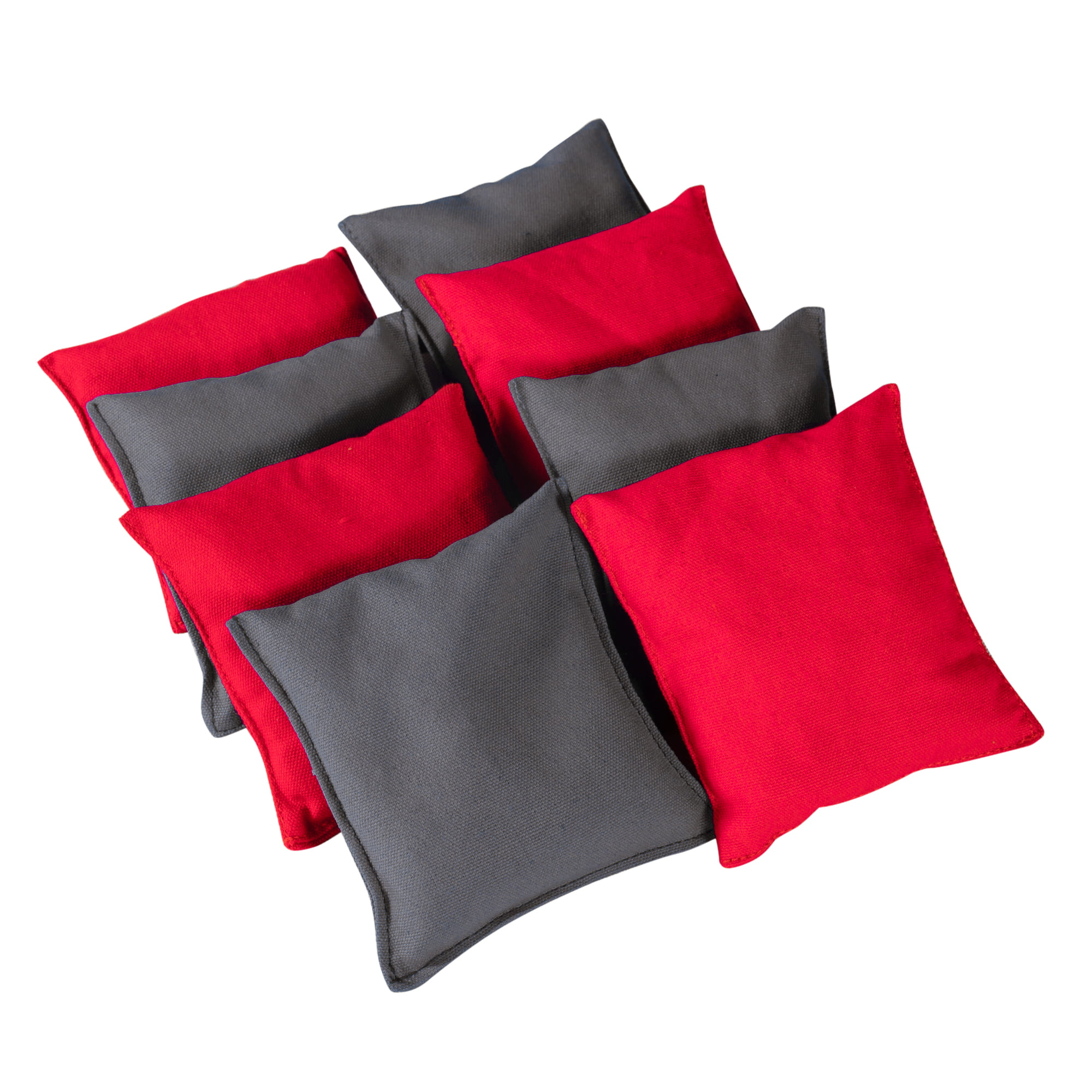 Cornhole Beanbags Replacement 4 Grey & 4 Red (8 Bags) by Phelps Group