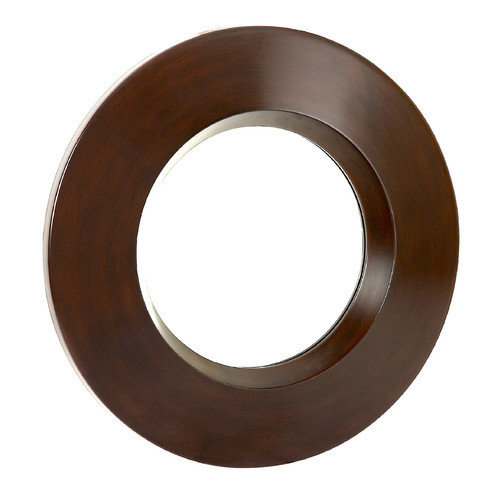 Majestic Mirror Modern Circular Decorative Brown Hanging Wall Mirror