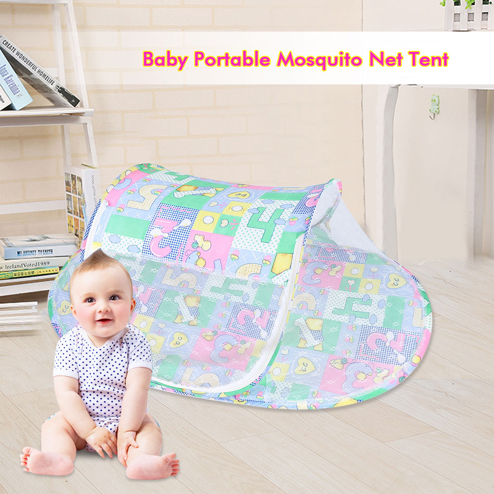 Yosoo Baby Infant Portable Foldable Mosquito Net Summer Tent Home Travel Comfortable Sleeping, Infant Mosquito Net, Baby Mosquito Net Tent