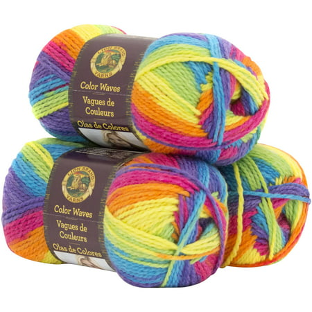 Lion Brand Yarn Color Waves 3 Pack Fashion Yarn Wool