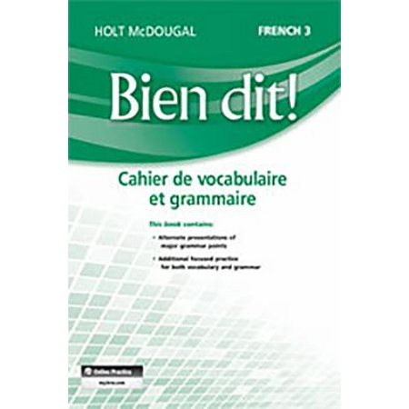 Bien Dit! : Vocabulary and Grammar Workbook Student Edition Level 3