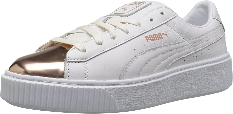 puma basket platform rose gold