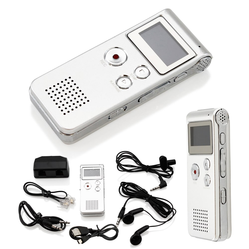 Gearonic  8GB Voice Recorder Rechargeable 650Hr Dictaphone MP3 Player