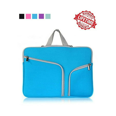IClover 11 Inch Waterproof Thickest Protective Slim Laptop Case for Macbook Apple Samsung Chromebook HP Acer Lenovo Portable Laptop Sleeve Liner Package Notebook Case Soft Sleeve Bag Case Blue (Rolling Computer Bag Blue)