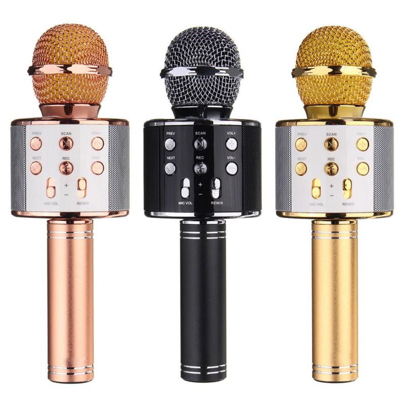 Wireless Bluetooth Karaoke Handheld Microphone USB KTV Player Bluetooth Mic Speaker Record Music Microphones