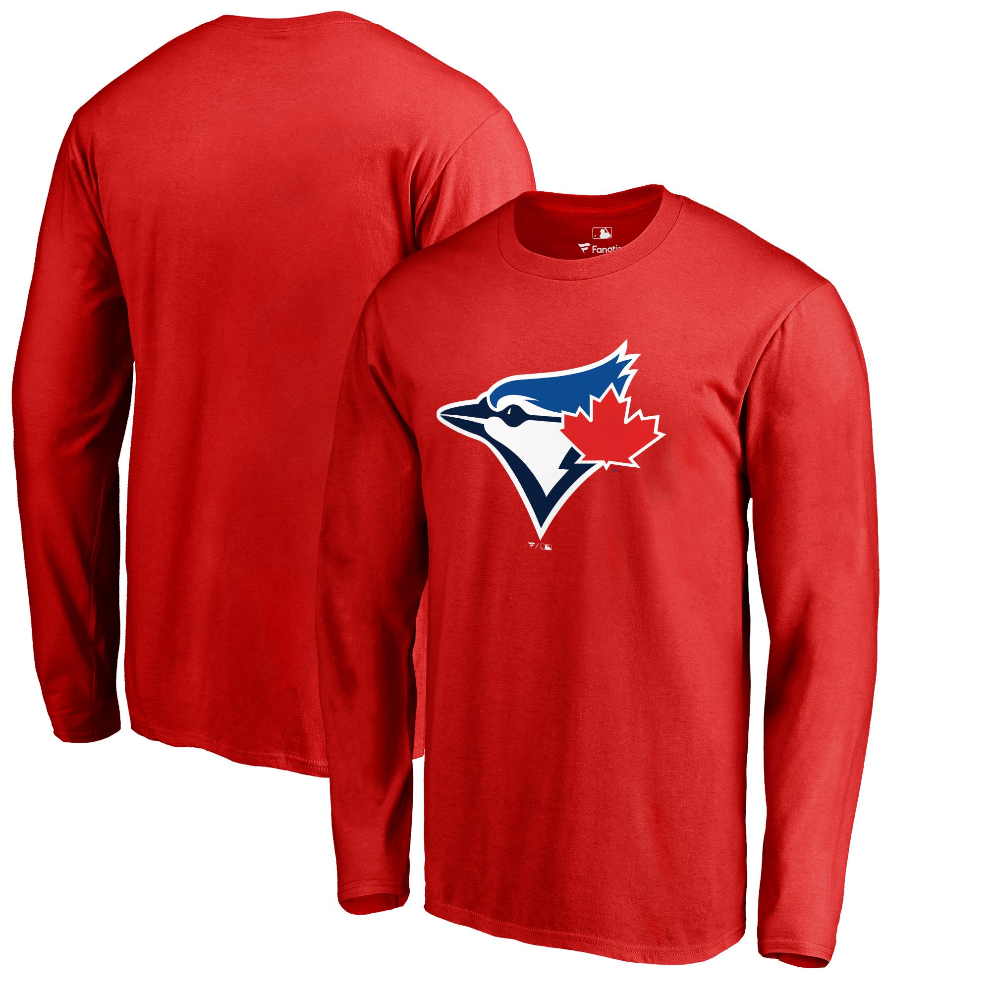 Toronto Blue Jays Fanatics Branded Logo Long Sleeve T-Shirt - Red