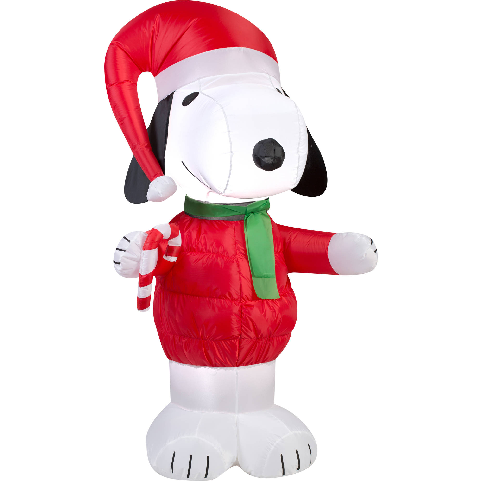 gemmy airblown christmas inflatables snoopy with candy cane 5 walmartcom - Christmas Airblown Inflatables