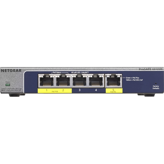 Click here to buy NETGEAR ProSAFE 5-Port Gigabit Plus Switch with PoE by NETGEAR.