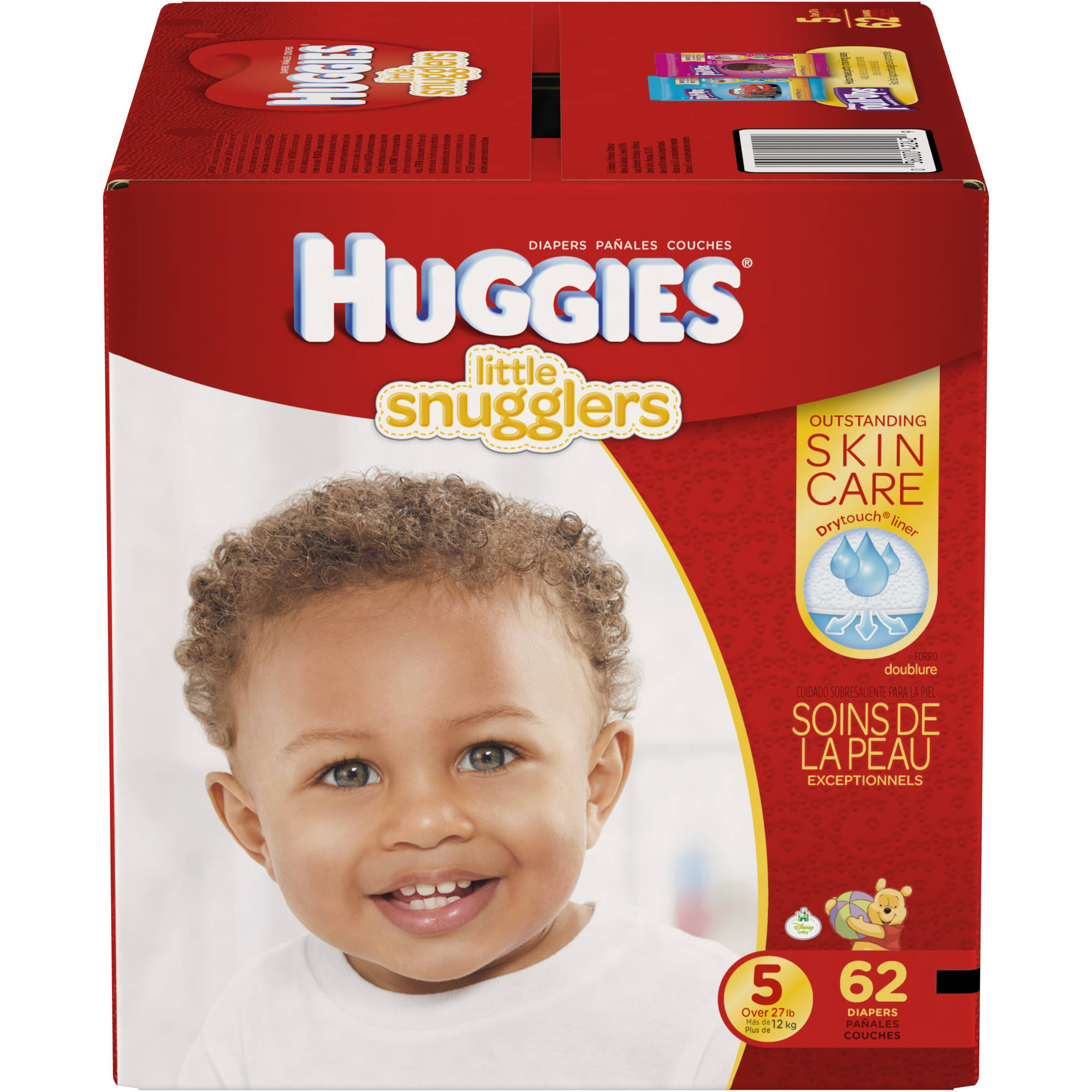 HUGGIES Little Snugglers Diapers, Super Pack, (Choose Your Size)