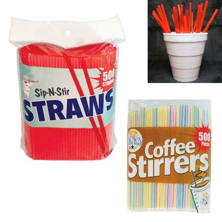 500 Set Coffee Stirrers Straws 5