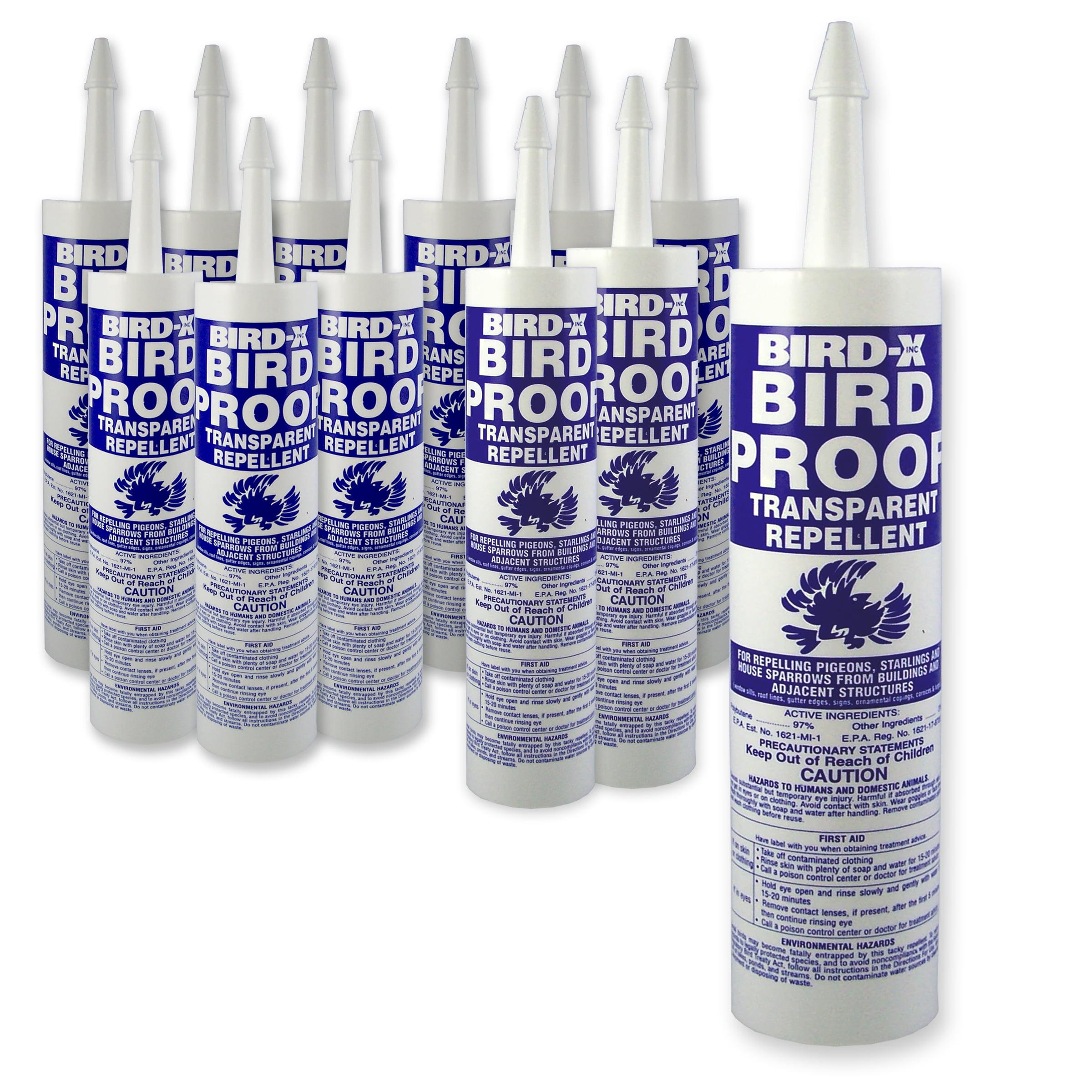 Bird-X Bird Proof Transparent Repellent (12-Pack)
