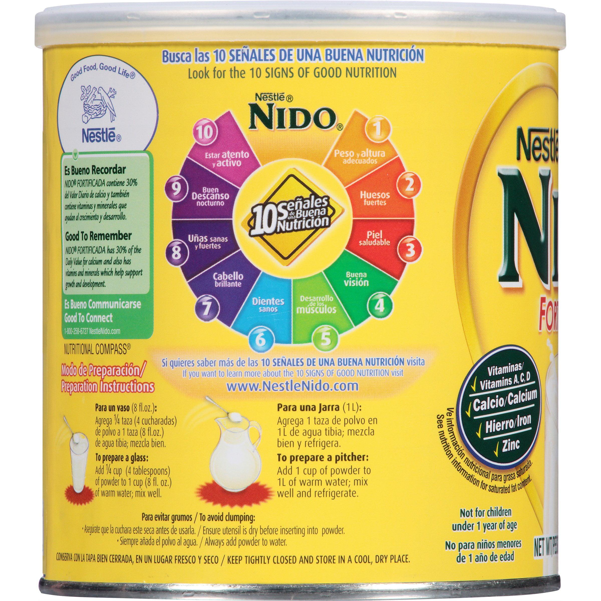 Nido Milk Powder Nutrition Facts Nutrition Ftempo