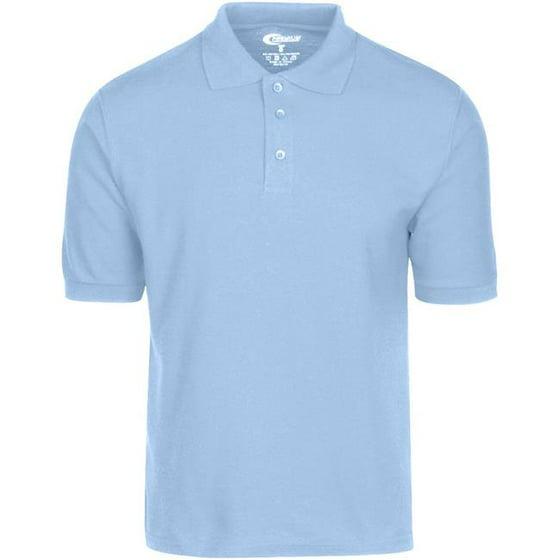 2ee316e7a Dolar Days - Dolar Days 1982490 Light Blue Mens Polo Shirt, Large -  Pack of 6 - Walmart.com