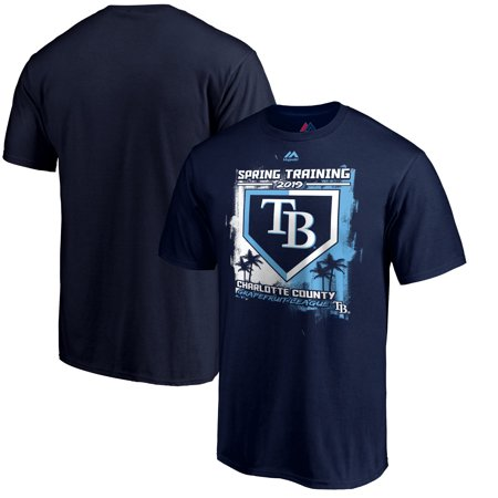 Tampa Bay Rays Majestic 2019 Spring Training Grapefruit League Base on Ball T-Shirt - (Tampa Bay Rays Minor League Spring Training)