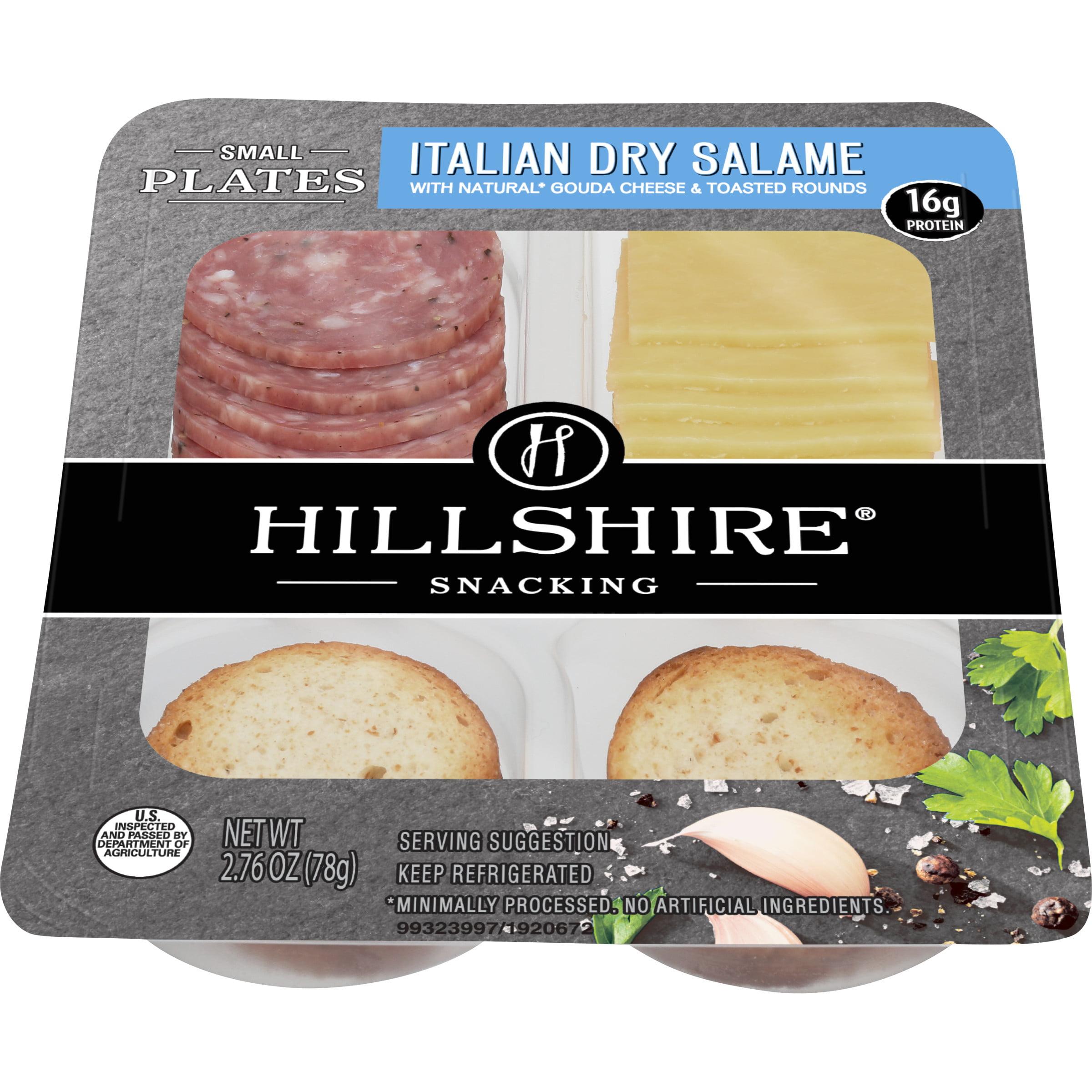 Hillshire Snacking Small Plates Italian Dry Salami Deli Lunch Meat And Gouda Cheese 2 76 Oz Walmart Com Walmart Com