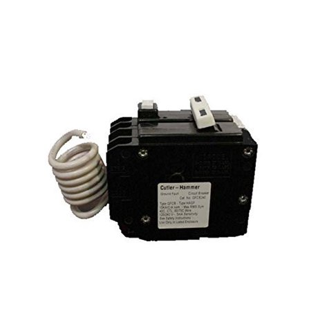 Cutler Hammer GFTCB240 40 Amp 2 Pole GFCI Circuit Breaker Plug-In 120/240V For Br Series Panel (Does Not Fit In A Cutler Hammer Ch Series Panel) Replaces GFTCB240 Cutler Hammer 40 Amp