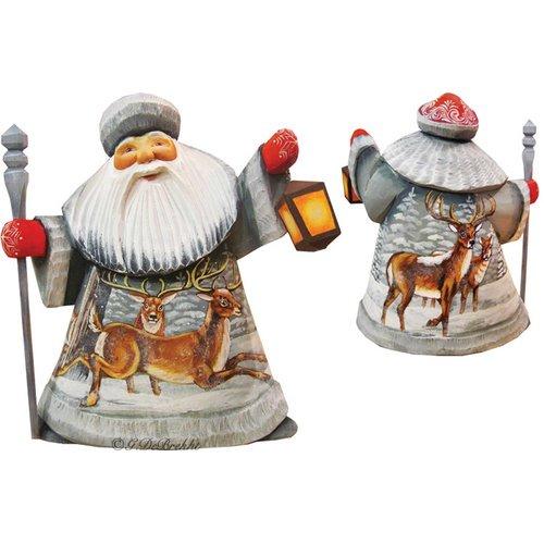 Gdebrekht 8215674 Playful Elks Santa Figurine Walmart Com Walmart Com