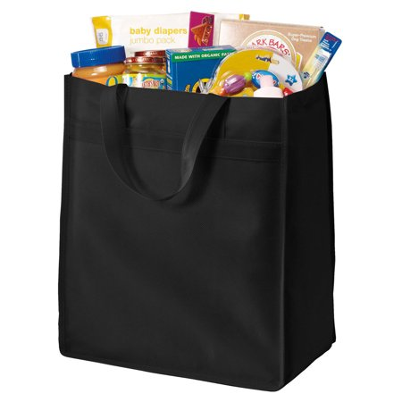 Port & Company Standard Polypropylene Durable Grocery Tote_Black_One - Royal Standard Old Mill