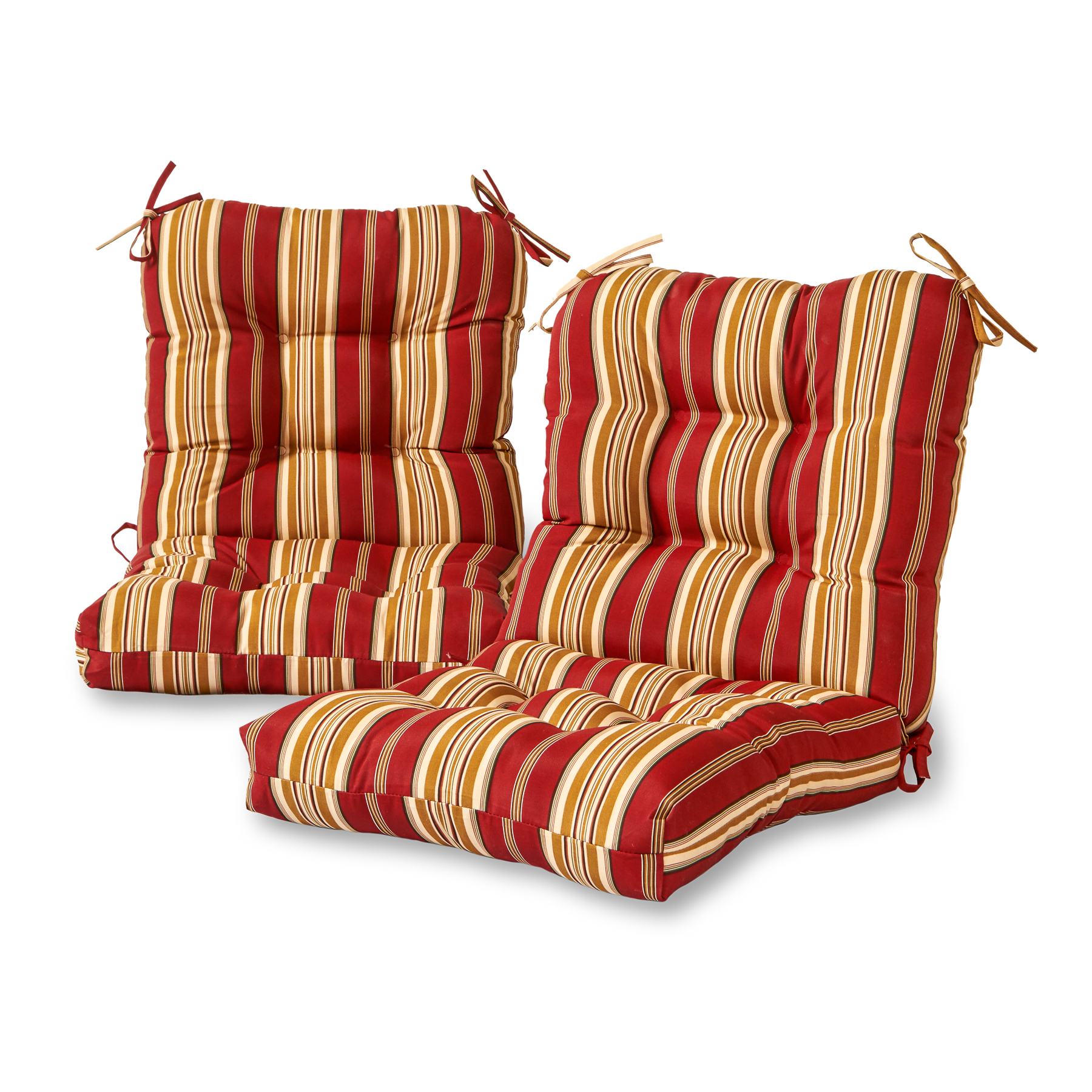 Greendale Home Fashions Roma Stripe Outdoor Chair Cushion, Set of 2