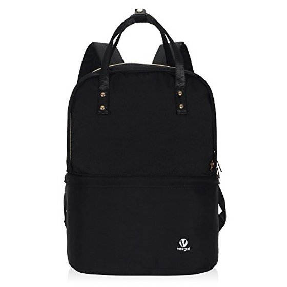 e51684a8f1b2 Veegul Multifunction Casual Daypack Double Desk Backpack Lightweight  Bookbag 16L