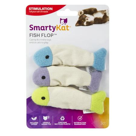 Smartykat  Fish Flop  Set Of 3 Crinkle Catnip Toys