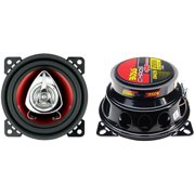 "BOSS CH4220 4"" 200W 2-Way Car Audio Coaxial Speakers Stereo Red PAIR"