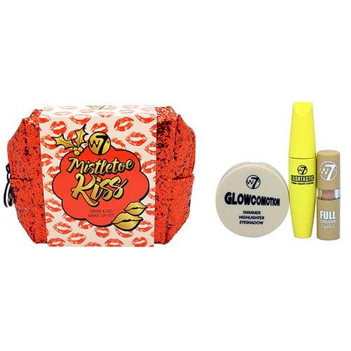 W7 Mistletoe Kiss Grab  Go Makeup 3 Piece Kit