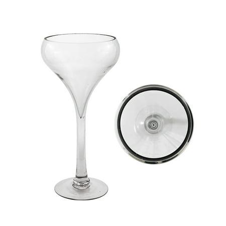 Mega Vases 8 X 12 Wine Glass Vase Set Of 1 Clear Walmart