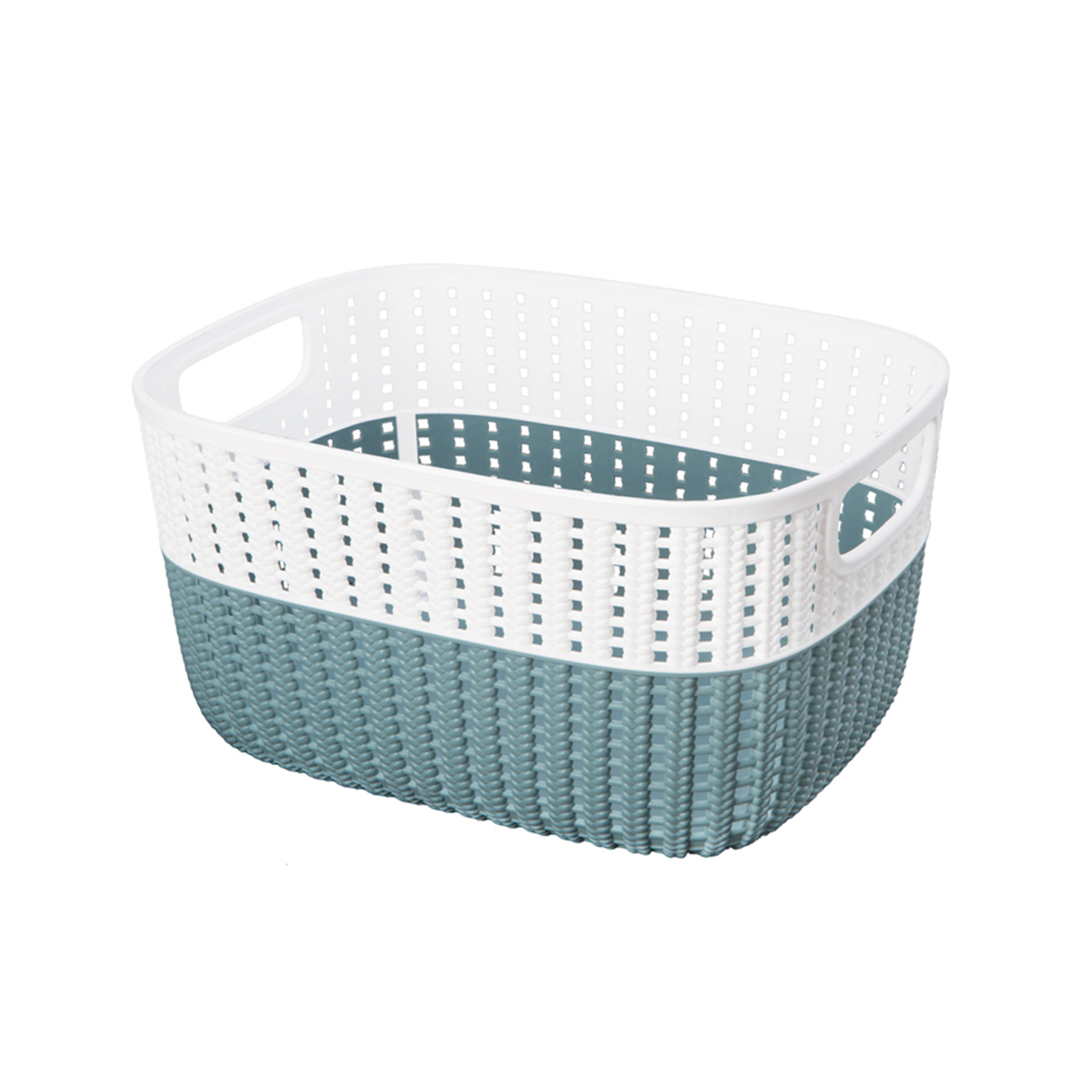 Simplify Sailor Knot Storage Tote with White Rim - Small (Dims: 9 X 7 X 5 Inch)