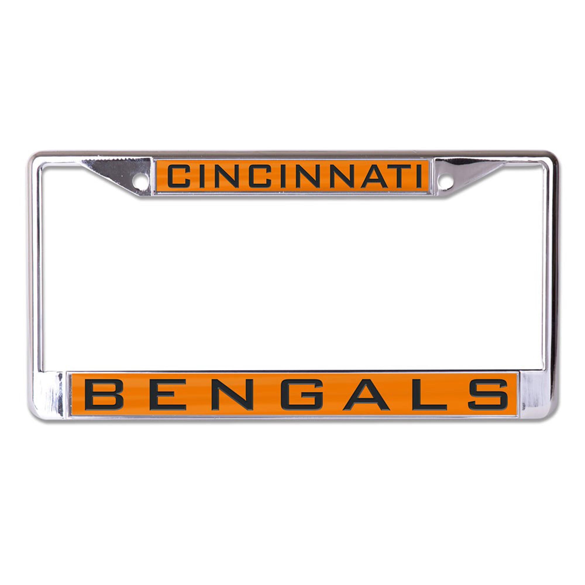Cincinnati Bengals WinCraft Inlaid Metal License Plate Frame - No Size
