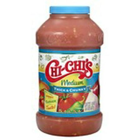Chi-Chi's Medium Thick & Chunky Salsa 48 oz. Plastic Jar (Jar Salsa)