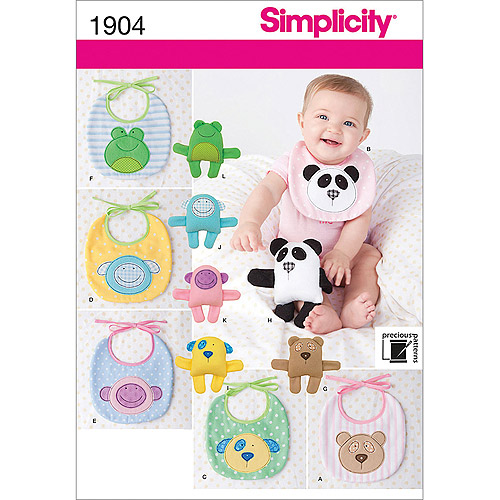 Simplicity Pattern Baby Bibs, One Size