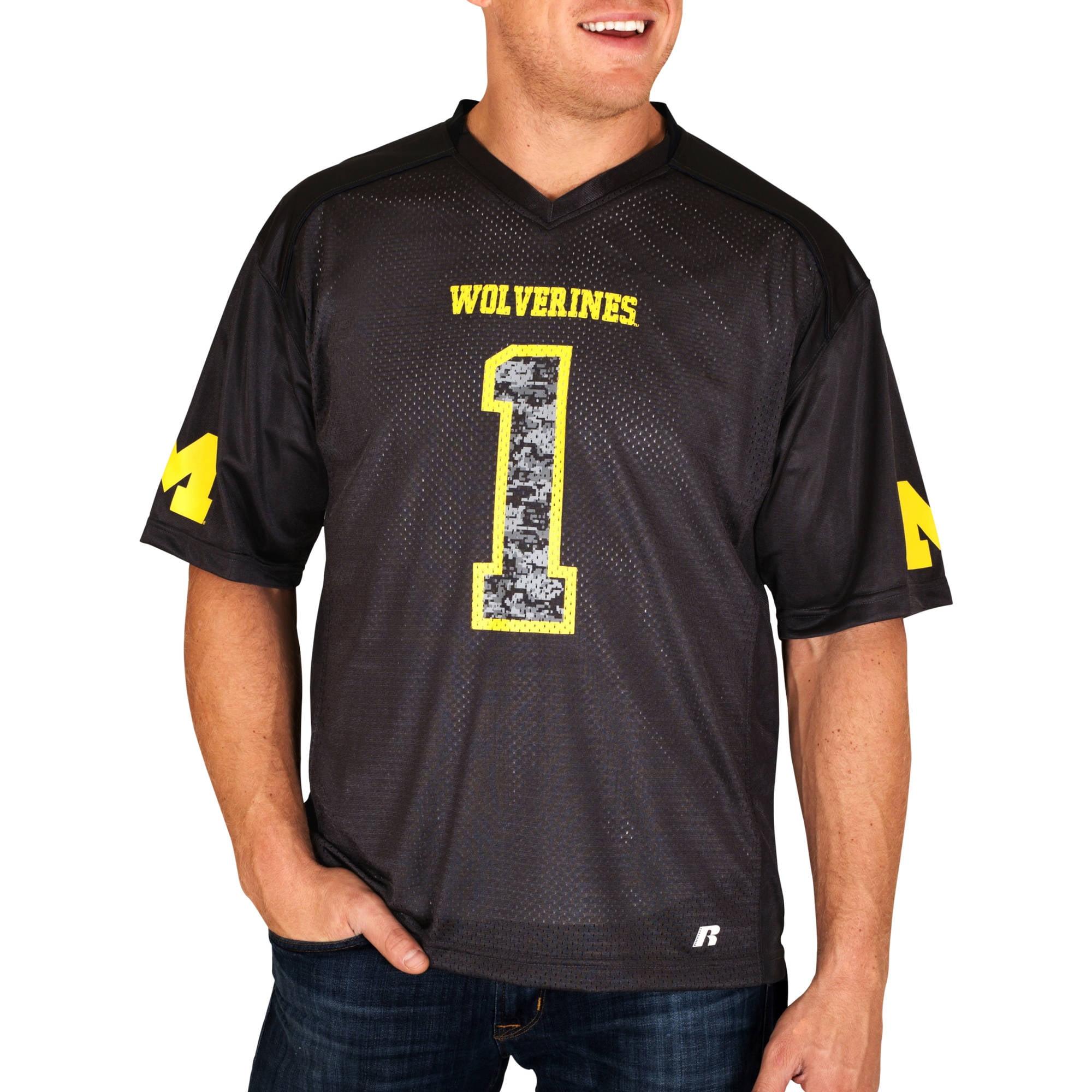 Russell NCAA Michigan Wolverines Big Men's    Jersey